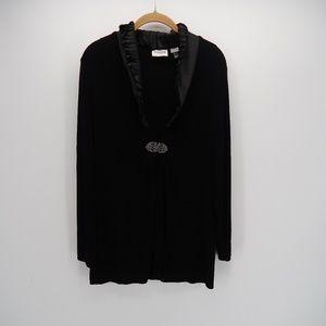Chico's Black Embellished Blazer Dress Size 1